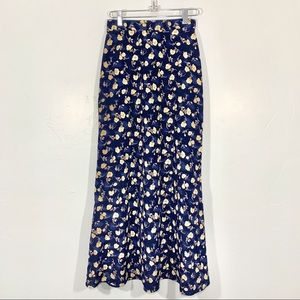 Vintage | Early 90's Blue Floral High Waist Maxi